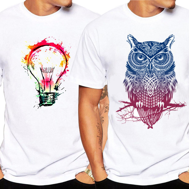 Cross-border short-sleeved T-shirt men's youth rights game t-shirt quick selling through color light bulb A00