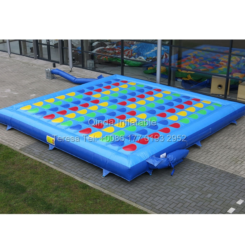 5*5m Fast Deliver Inflatable Right Foot And Left Hand Games Twister Mattress Inflatable Twister Board Game Bouncers