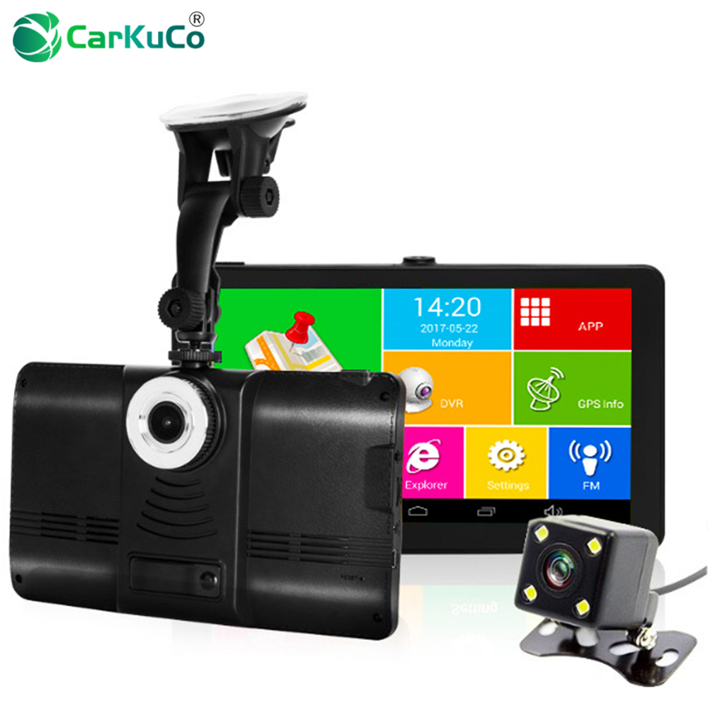 7 Inch Capacitive Car DVR Camera GPS Navigator Recorder Android GPS Navigation WIFI FM Truck GPS Sat Nav 8GB Free Map Toruist junsun 7 inch hd car gps navigation bluetooth avin capacitive screen fm 8gb vehicle truck gps europe sat nav lifetime map