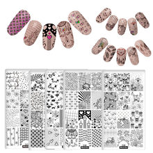 DIY Different Design Nail Art Stamping Plates Love Skull Star DIY Nails Image Stamp Plates Manicure Template Nail Painting Tools недорого