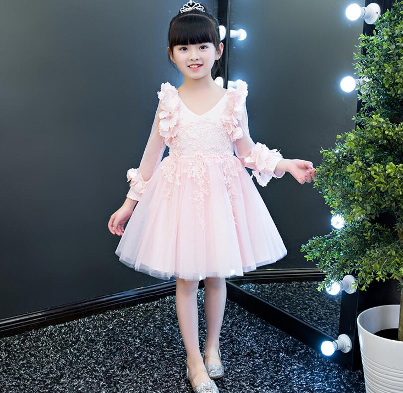 2018 winter toddler kids baby party princess ruffle sleeveless tutu princess formal dress girls solid cute clothes