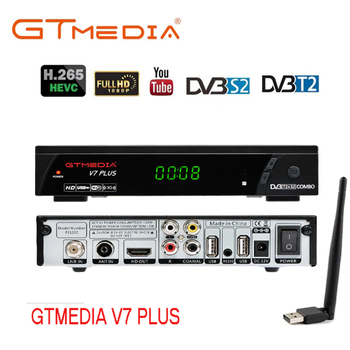 GTMedia V7 Plus Combo HD Digital DVB-S2/T2 Satellite TV Receiver Support Cccamd H.265 HEVC PowerVu TV Turner Set Top Box freesat