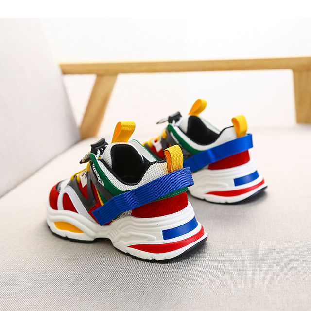 Spring New Fashion Baby Girls Black Genuine Leather Shoes Children Mesh Sport Sneakers Kids Casual Shoes Boys Brand Shoes 2019 4