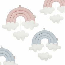 INS Nordic Cloud Rainbow Raindrop Wall Decor Baby Bed Tent Hanging Ornaments Toy Kids Room Decoration Nursery Photography Props