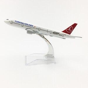 Image 1 - トルコ航空Boeing777 20センチメートル飛行機モデルトルコ16センチメートルB777飛行機モデルオリジナルモデルA350ダイキャスト飛行機モデルのおもちゃ飛行機
