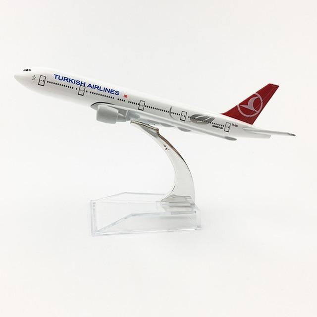 トルコ航空Boeing777 20センチメートル飛行機モデルトルコ16センチメートルB777飛行機モデルオリジナルモデルA350ダイキャスト飛行機モデルのおもちゃ飛行機