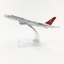 Compagnie aeree turche Boeing777 20CM modello di aereo turchia 16CM B777 modello di aereo modello originale A350 modello di aereo pressofuso aereo giocattolo