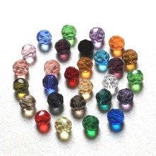 StreBelle Bead Multi Colors crystal Beads Fashion DIY Jewelry 8mm 100pcs Glass Round Shape Football Style