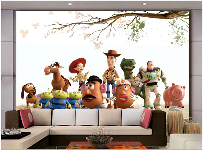 Custom Children Wallpaper, Animated Cartoon Group Photo For Children Room Living Room TV Setting Wall Vinyl Paper DE Parede