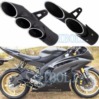 51mm Modified Motorcycle Double Treble Exhaust Muffler TOCE Pipe Z800 BN300 ZX10R R1 R3 NINJIA250 CB40 YA008