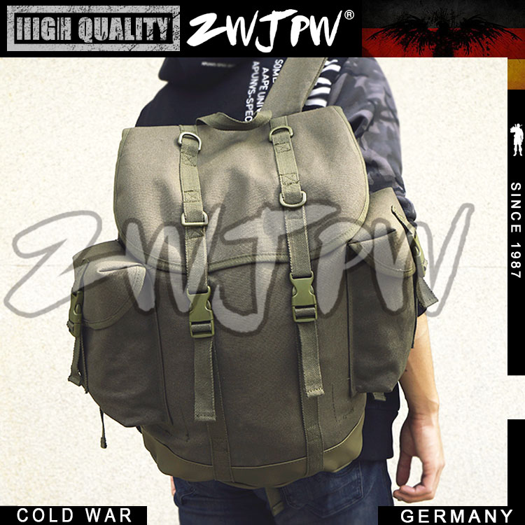 COLD WAR WW2 WWII ARMY MOUNTAIN BAG CANVAS BACKPACK OUTDOOR WEST GERMAN PACKAGE DE/55825