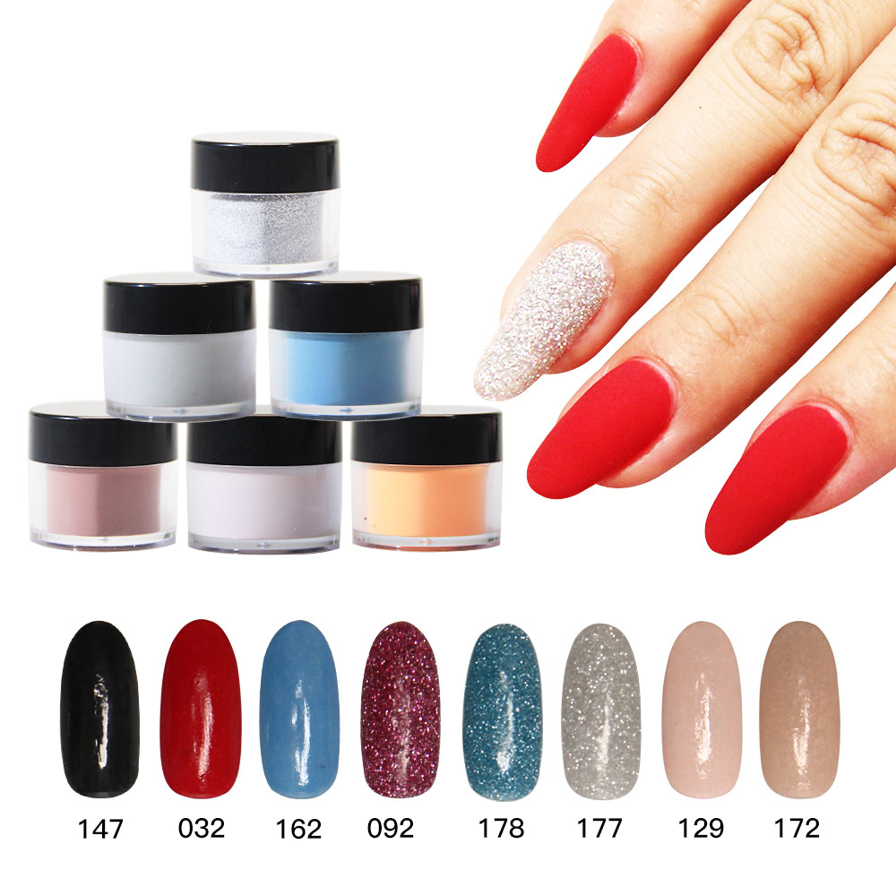 10g/Box Dipping Powder Without Lamp Cured Nails French White Clear ...