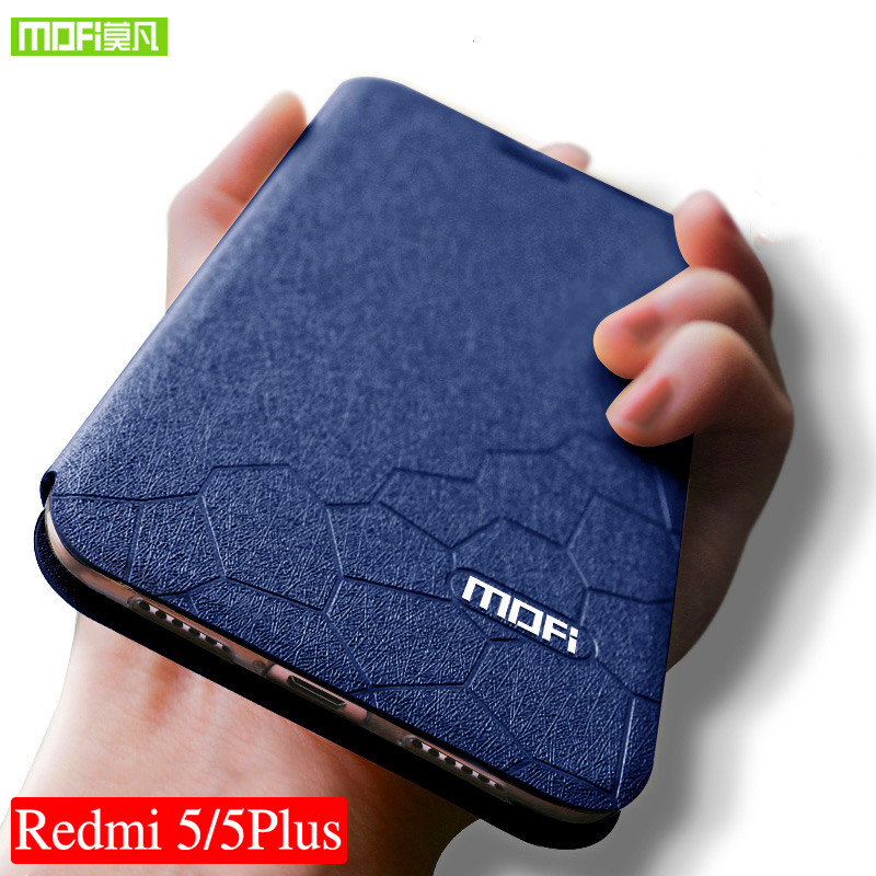 Mofi per Xiaomi redmi 5 caso 5.7 silicone copertura posteriore Per Xiaomi redmi 5 plus caso 5.99 del Cuoio di Vibrazione redmi 5 TPU redmi 5 plus caso