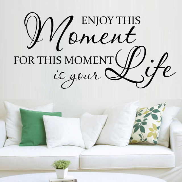 Enjoy This Moment Life Home Decor Vinyl Wall Decal Quote Sticker