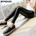 Womens Spring Autumn Thin Leggings Sexy Pants Female Summer Stretch Shiny Gloss Black Leggings Women Leggins Workout Leggings