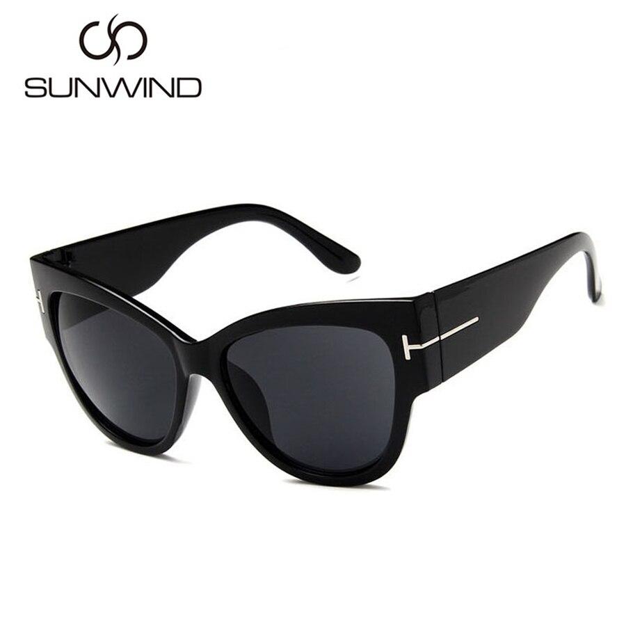 2018 Cat Eye Sunglasses Wanita Merek Mewah Designer Vintage Sun - Aksesori pakaian - Foto 2