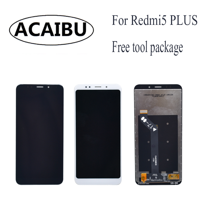 For Xiaomi Redmi 5 Plus LCD Touch Screen Digitizer + Display +Frame 5.99 Cellphone Color Free Shipping Digitizer Assembly Repla