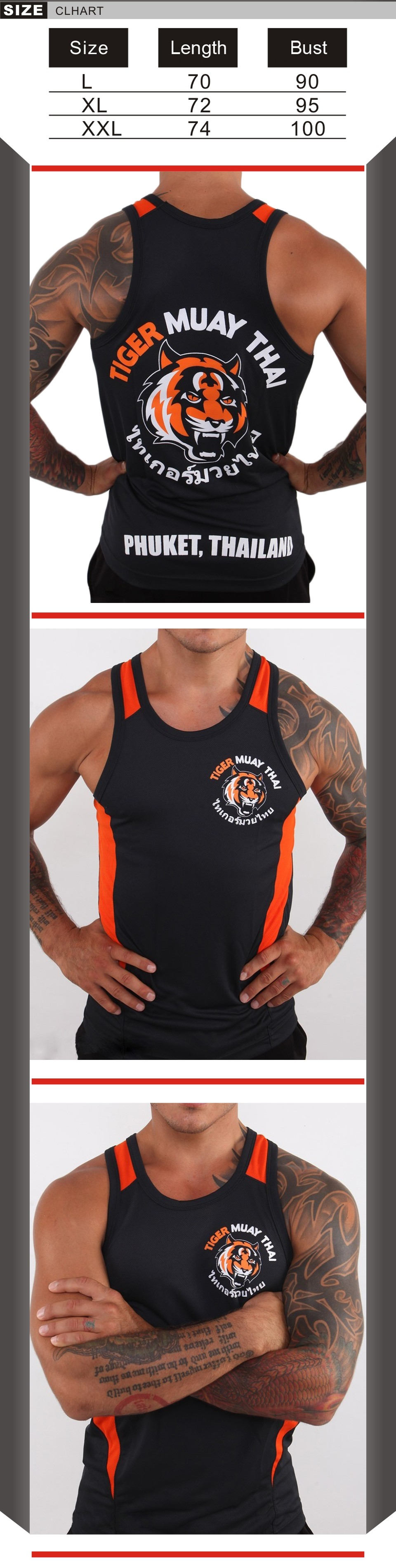 Black Tiger Muay Thai MMA training vest breathable absorbent mma muay thai
