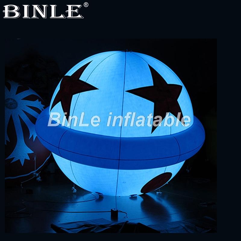 купить Hot sale 1.5m/2m/3m inflatable led balloon nightclub decoration inflatable sphere ball planets balloons for party event недорого
