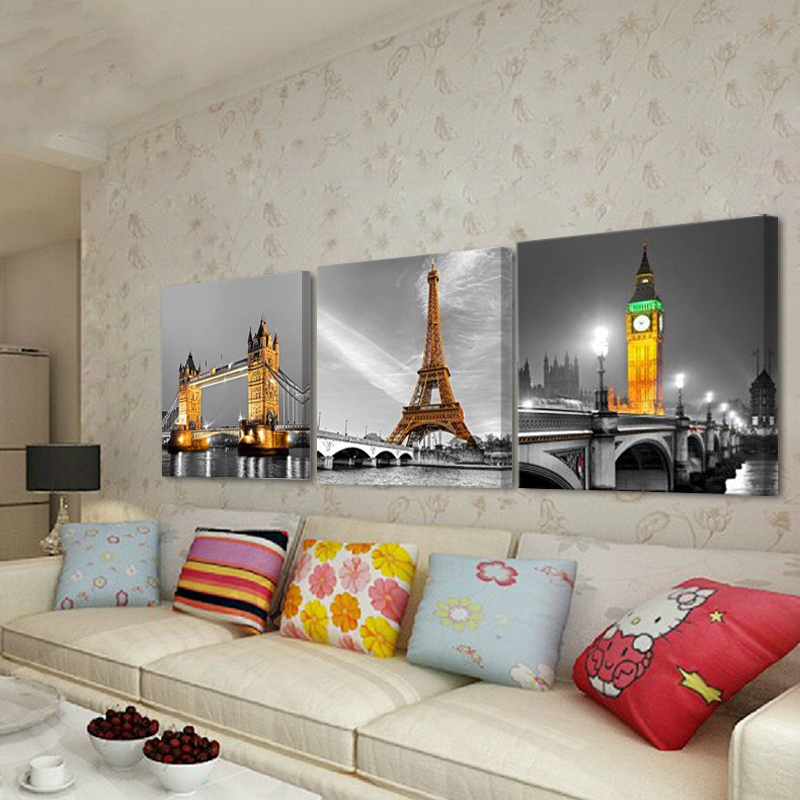 3pcs tree pictures home decoration wall paintings for - Large pictures for living room ...