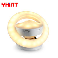 Changeable Intelligent LED Human Body Induction sensor UFO portable Creative usb rechargeable led night light for Baby bedroom