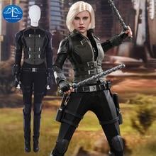 2018 Avengers Infinity War Black Widow Costume Natasha Romanoff Cosplay Costume Halloween Costumes For Women Full Set Customize
