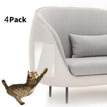 4 шт., защитный коврик для кошек, Когтеточка для когтей, мебель для дивана, защитный чехол для дивана, накладки для дивана, против когтей, товары для кошек