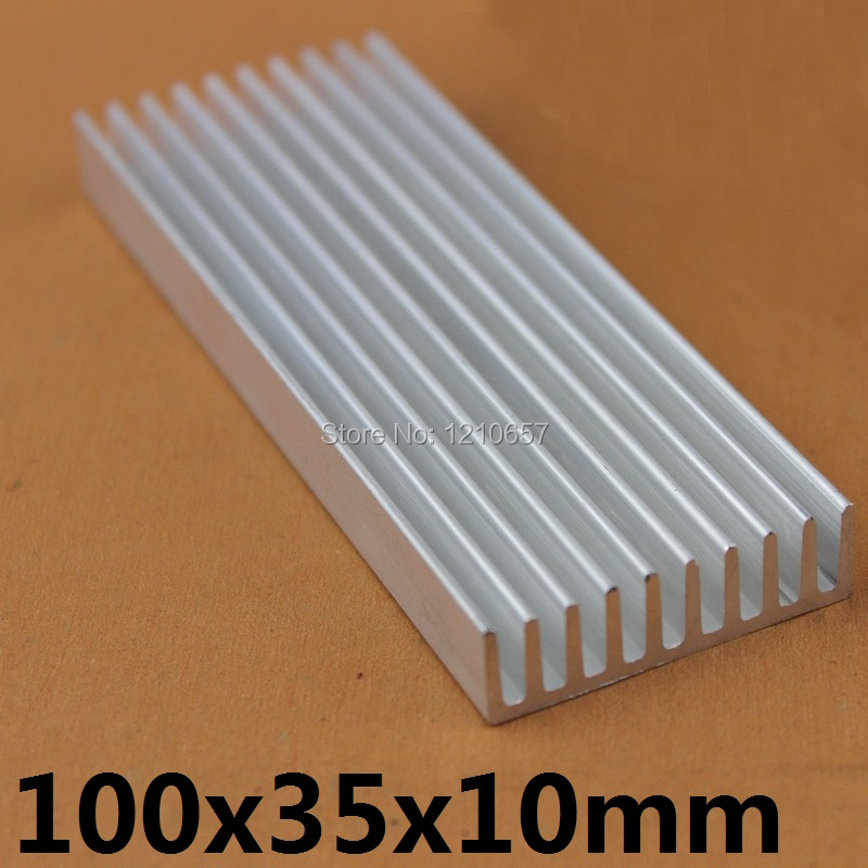 1pieces 100x35x10mm Aluminum Heat Sink For Computer Electronic