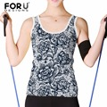 FORUDESIGNS 3D Women Tank Tops Lace Floral Printed Ladies Short Tops Sexy Vest Plus size Summer Casual Women Tanks Cropped Tops