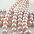 Grade AAA 9~10mm Nearround Natural Fresh Water Pearls Beads High End Jewelry Making Materials 2pc/lot