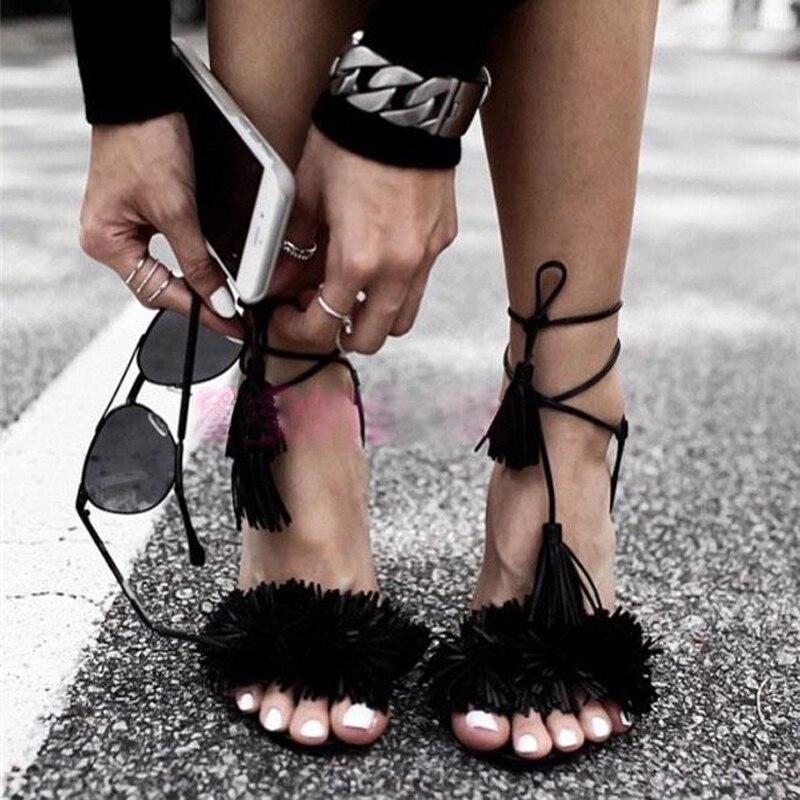 Mados vestuvių vakarėlis suknelė avalynė moterys atviras pirštas aukštakulniai vasaros sandalai vientisa spalva pakraštyje papuoštas kulkšnies dirželis sandalai