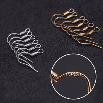 100pcs/lot Carven 925 Silver Copper Ear Wires Wholesale Earrings Hook for DIY Jewelry Earrings Making Supplies Accessories 2pair real 925 sterling silver beads ear hook accessories ladies earrings plated gold diy sterling silver accessories wholesale
