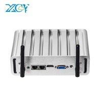 XCY безвентиляторный мини ПК оконные рамы 10 Intel Core i7 5500U i5 5200U i3 5005U двойной порты Ethernet COM Серийный порта HDMI VGA wi fi
