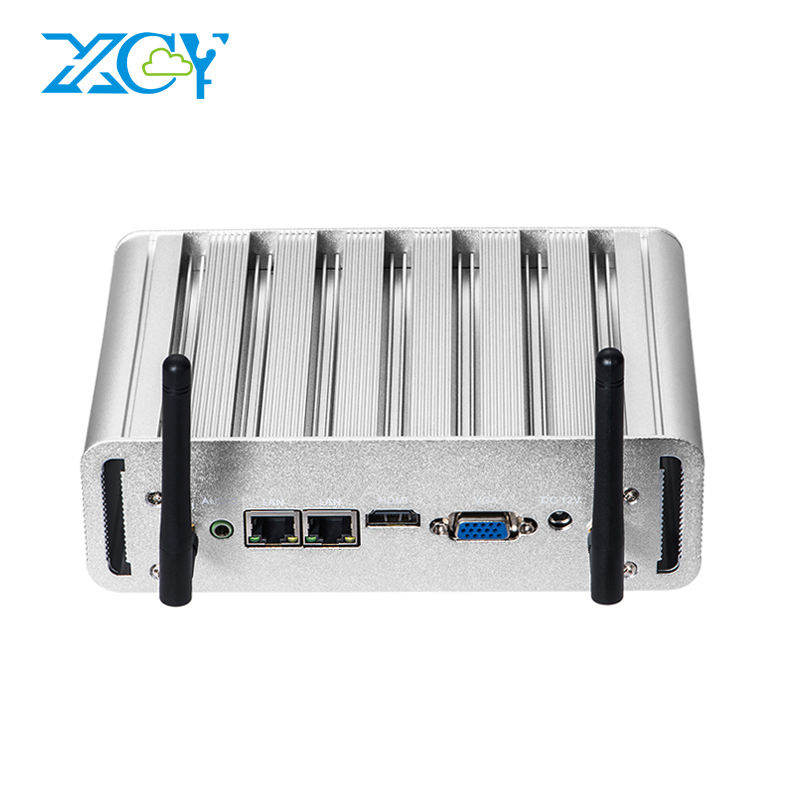Image 2 - XCY Mini PC Intel Core i7 5500U i5 5200U i3 5005U Windows 10 Dual NIC Ethernet 2xRS232 HDMI VGA WiFi 4xUSB Industrial Micro PC-in Mini PC from Computer & Office