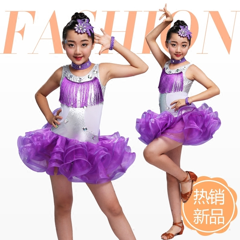 09b887926 Child Kid Children Professional Latin Dance For Sale Dress Girls Patterns  Ballroom Dancing Dresses Kids Rumba Cha Cha Costumes