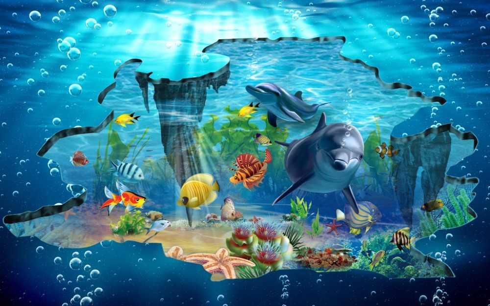 3D занавески Модные индивидуальные подводный пузырь шторы с дельфином для спальни новые пользовательские 3D красивые затемненные тени окна