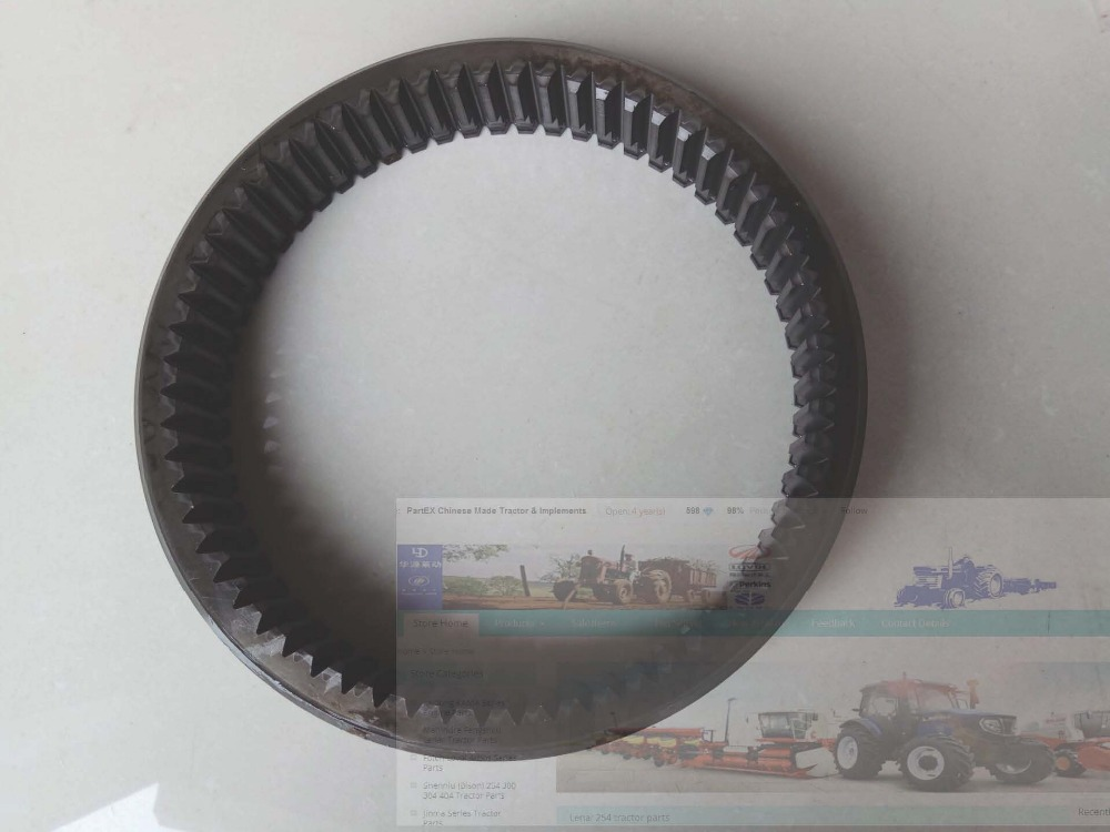 YTO 904 tractor parts, the gear ring, part number: 1.41.543/5108749 luoyang yto engine lr4108t53 parts the set of piston rings part number rb 050002 1 03 1 0200 1