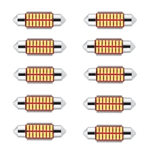 цена на 10PCS Festoon 31mm 36mm 39mm 41mm LED Bulb C5W C10W Super Bright 4014 SMD Canbus Error Free Auto Interior Doom Lamp Car Styling