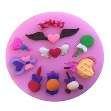 Angel Wing fondant cake silicone mold DIY Reverse forming chocolate kitchen Baking decoration tools