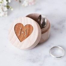 Rustic font b Wedding b font Ring Bearer Box Personalized font b Wedding b font Ring