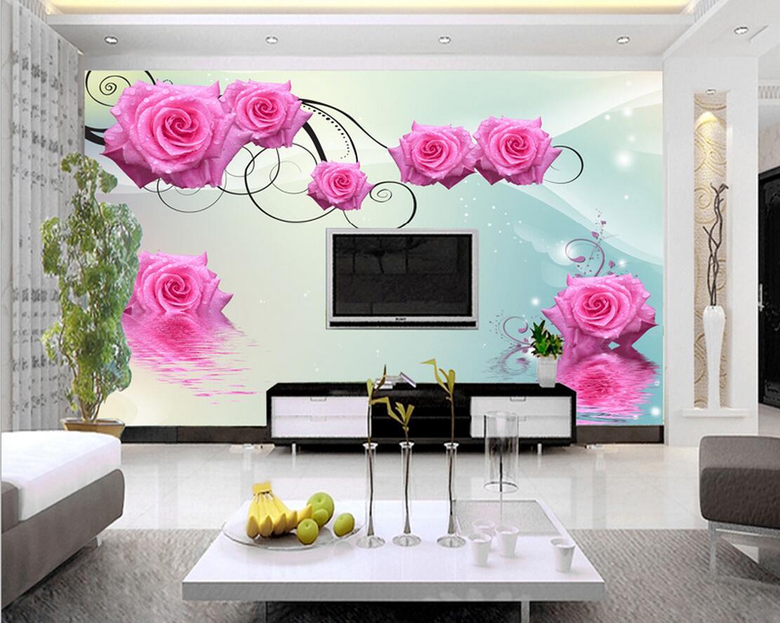 Online Get Cheap Rose Print Wallpaper Aliexpresscom Alibaba Group