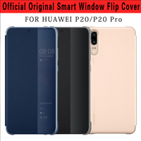 100 Original Official For Huawei P20 Pro Case Flip Cover Smart View PU Leather Case For