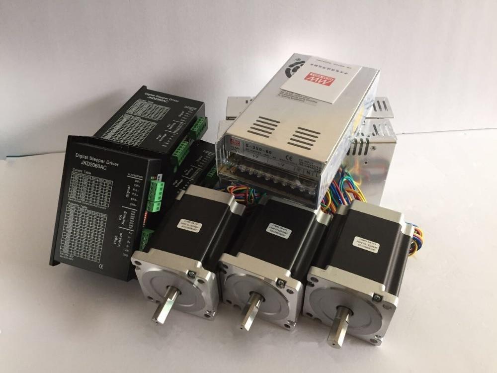 3pcs Nema34 Stepper Motor 86HS115-6004, 1232oz-in(8.7N.m), 6A, 14mm shaft + 3pcs motor driver + 3pcs Power Supply CNC Engraver 3pcs i9300 power supply ic max77686