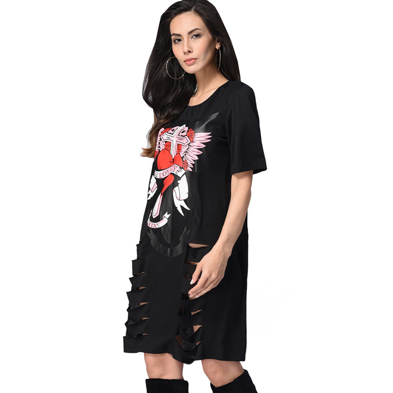ad1f4cd0388 2018-African-Print-T-shirt-Dress-Punk-Rock-Style-Summer-Women-Casual-Mini- Dress-Sexy-Black.jpg