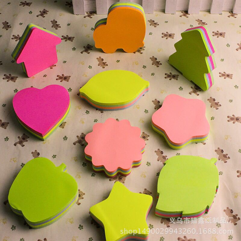 Kawaii Sticky Paper Star Memo Pad 100sheets 1PCS Heart Post Notes For Students Gift Korean Stationery Office School Supplies