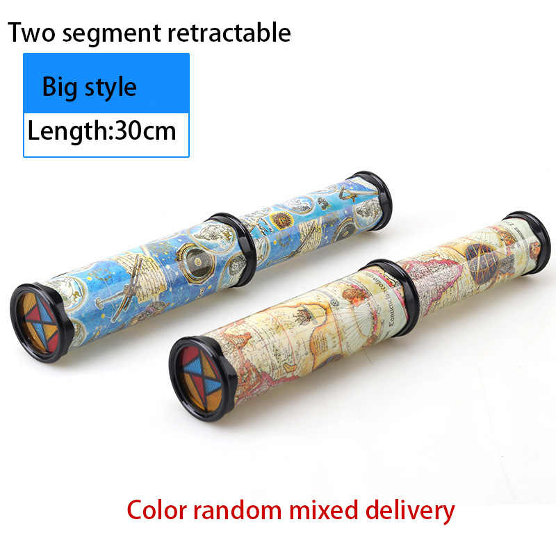 Scalable Rotation Kaleidoscope 30cm Magic Changeful Adjustable Fancy Colored World Toys For Children Autism Kid Puzzle Toy