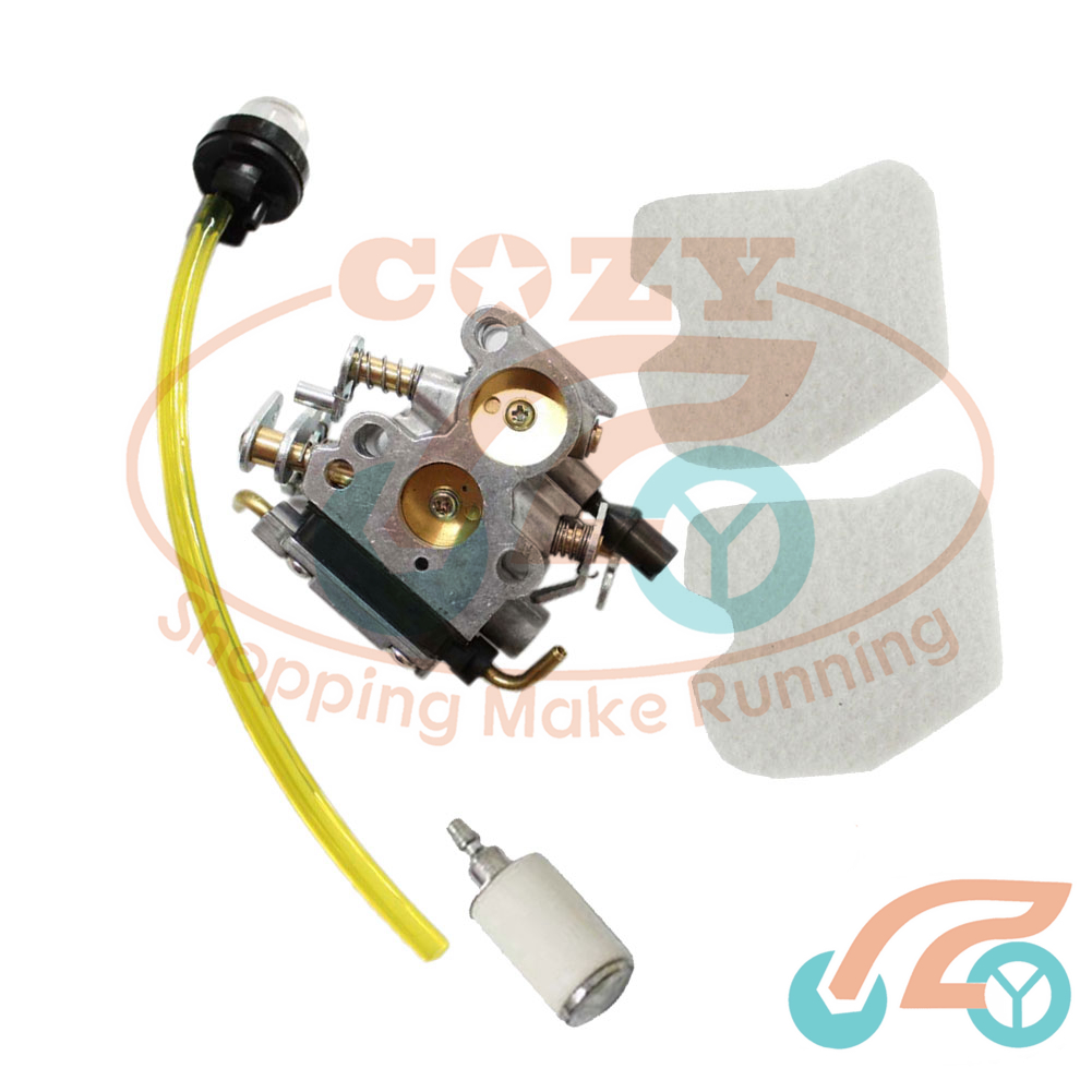 small resolution of carburetor carb air filter fuel filter line for husqvarna 235 235e 240 240e mower 545 07