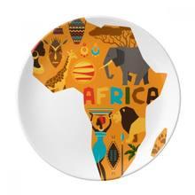 Карта Африки слон иллюстрация африканской саванны десертная