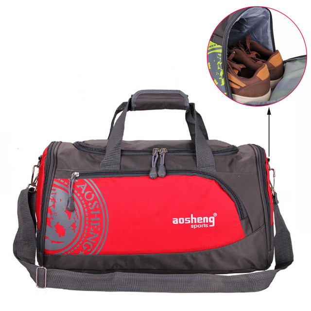 GYKZ Outdoor Gym Men   Women Sport Bag With Shoes Pocket 2018 Fitness  Basketball Bag Travel Duffle Bag Support Custom Logo HY103 773224f76a