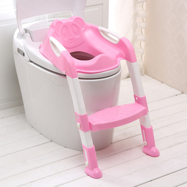 New Arrival Baby Potty Seat With Ladder Baby Toilet Seat Thickening Folding Chair Kids Toilet Safety Chair Training Potties